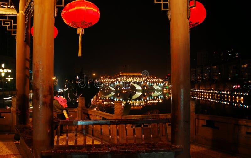 templo na noite imagem de stock royalty free