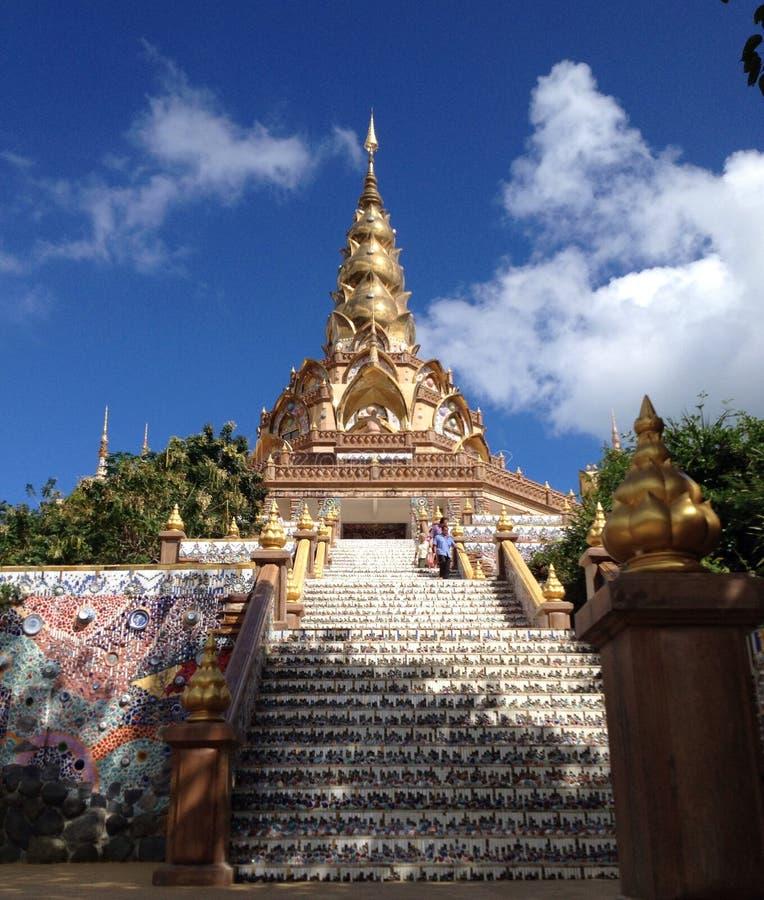 Templo na província de Phetchaboon imagens de stock royalty free