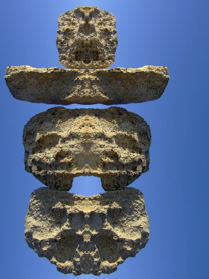 Templo Neolithic fotografia de stock