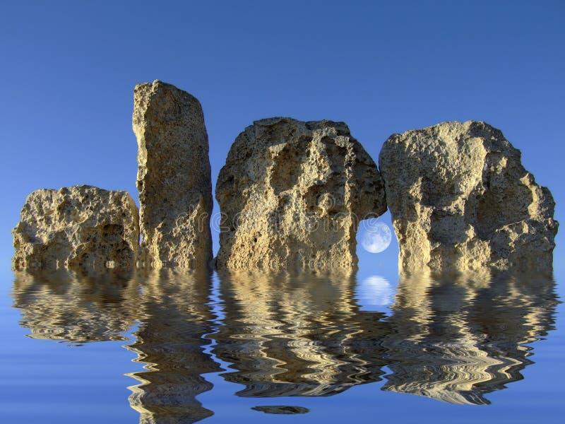 Templo Neolithic fotos de stock