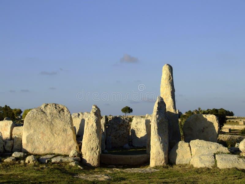 Templo Neolithic foto de stock