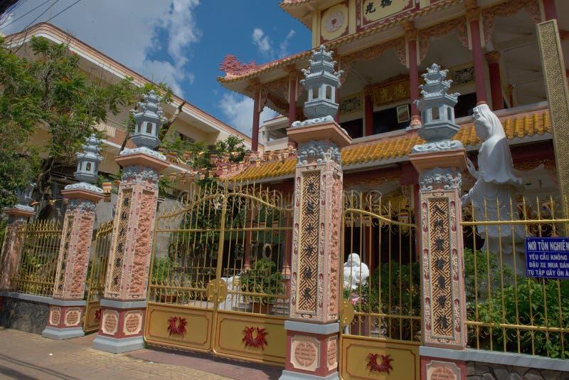 Templo no Can Tho - o Vietname foto de stock
