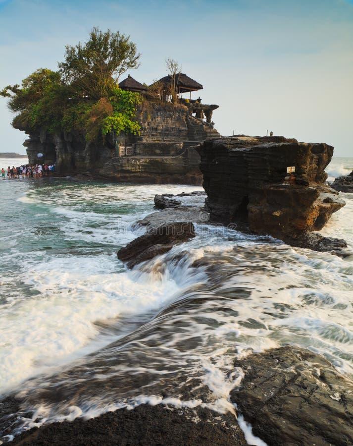 Templo no mar, Bali, Indonésia imagem de stock royalty free