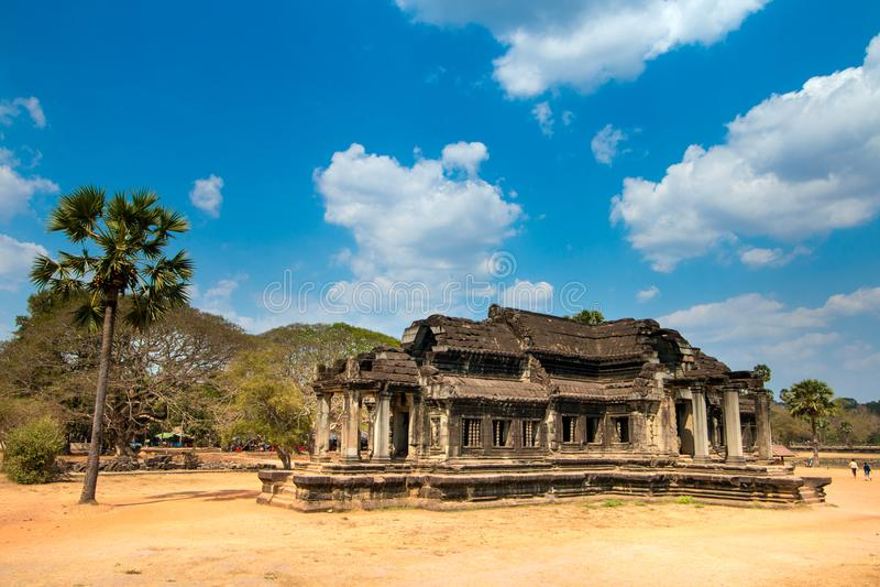 Templo no ` s Angkor Wat de Camboja imagens de stock royalty free