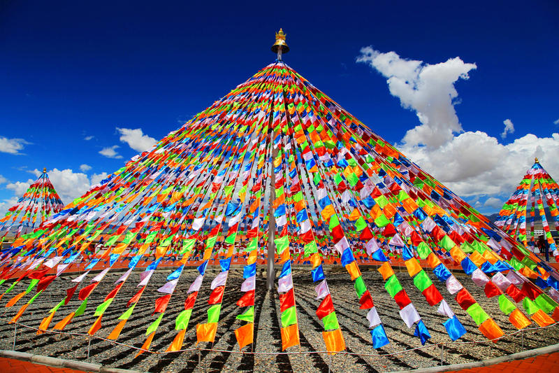 Templo no tibetano do budismo tibetano fotos de stock royalty free