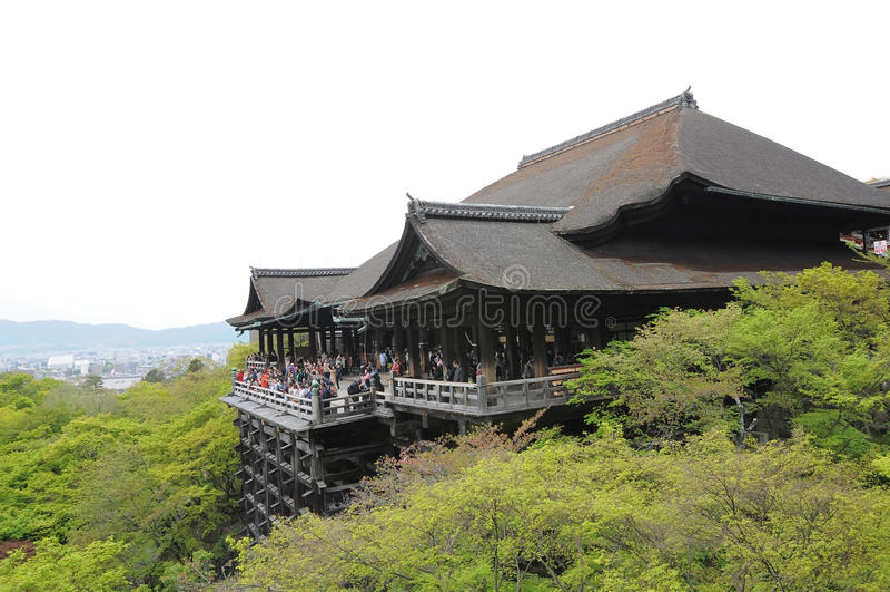 Templo no verão, Kyoto de Kiyomizu-dera imagem de stock