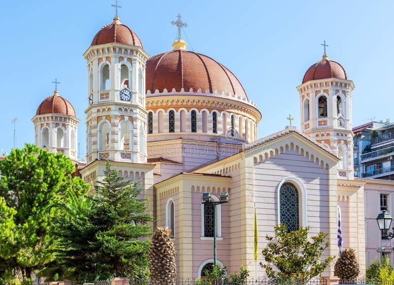 Templo ortodoxo metropolitano de Saint Gregory Palamas em Tessalónica, Grécia fotos de stock