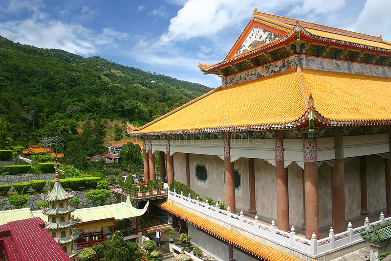 Templo pelo monte imagens de stock royalty free