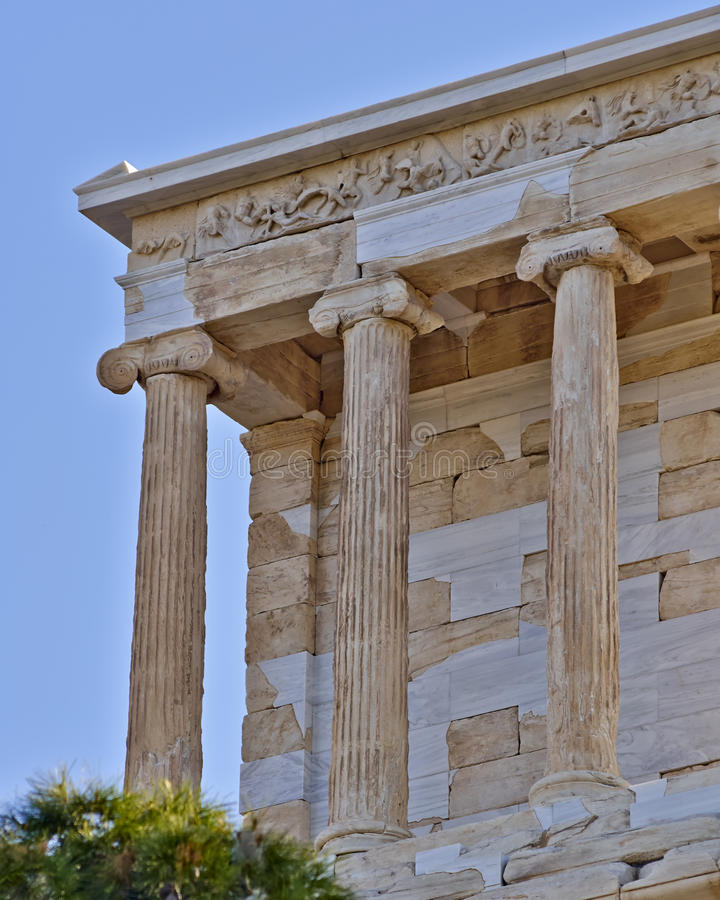 Templo pequeno de Athena Nike, Atenas Grécia imagem de stock royalty free