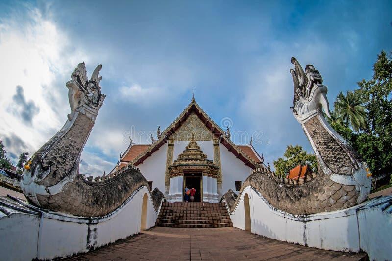 Templo Phumin na província de nan, Tailândia fotografia de stock