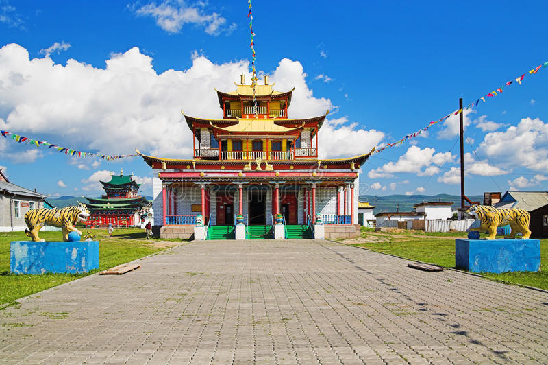 Templo principal do Ivolginsky Datsan fotografia de stock royalty free