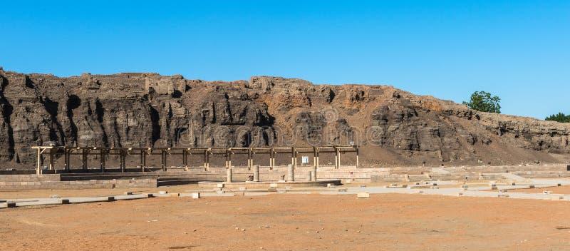 Templo Ptolemaic de Horus, Edfu, Egipto fotografía de archivo