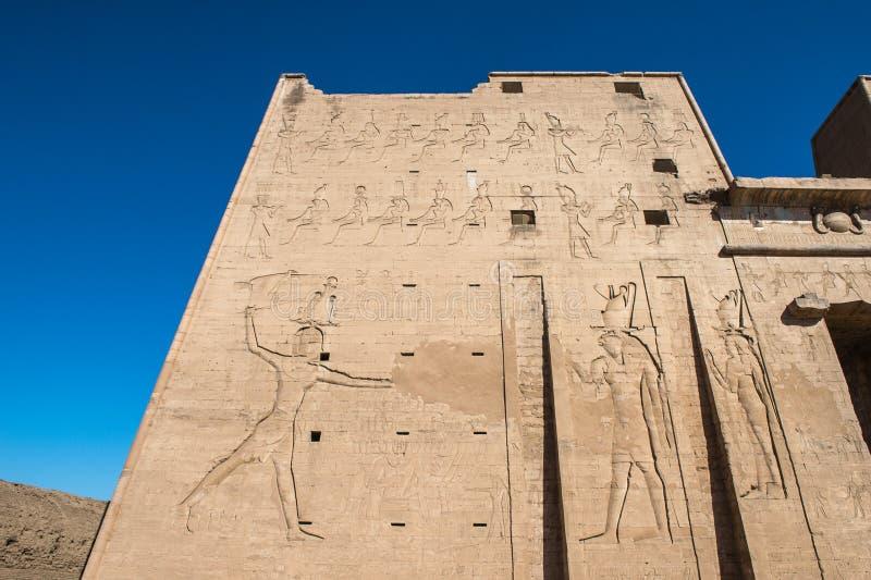 Templo Ptolemaic de Horus, Edfu, Egipto imagen de archivo libre de regalías