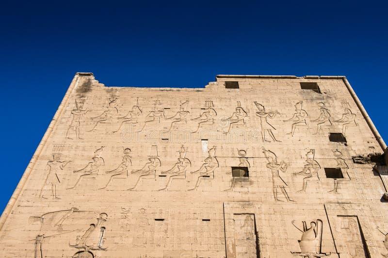 Templo Ptolemaic de Horus, Edfu, Egipto foto de archivo libre de regalías