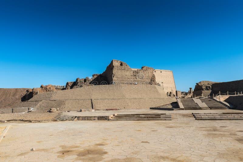 Templo Ptolemaic de Horus, Edfu, Egipto imagen de archivo