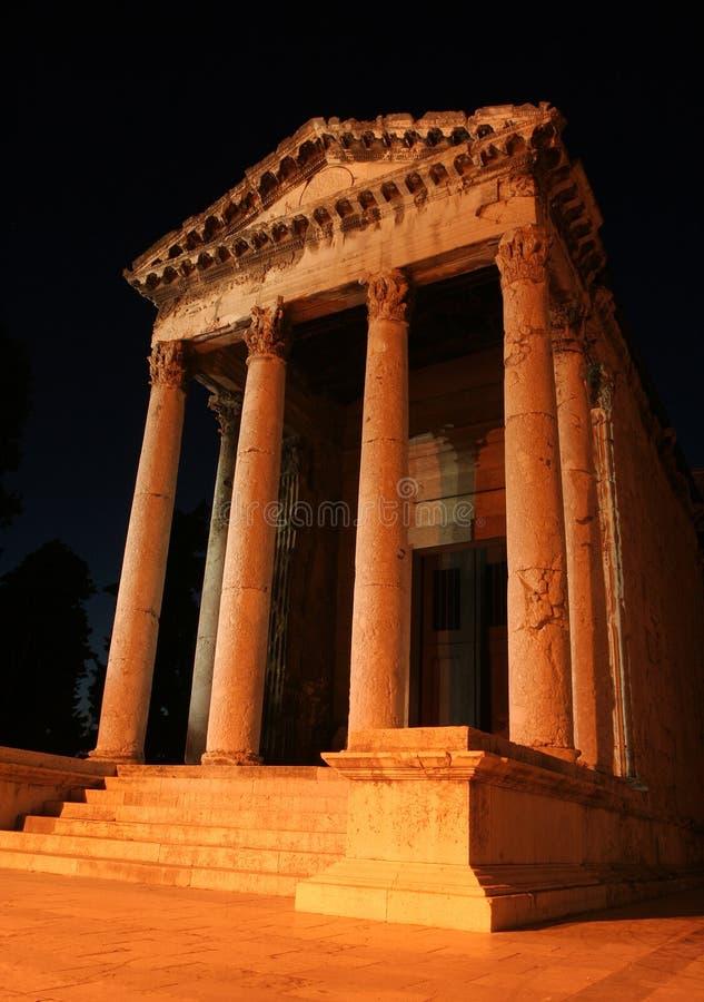 Templo romano imagens de stock