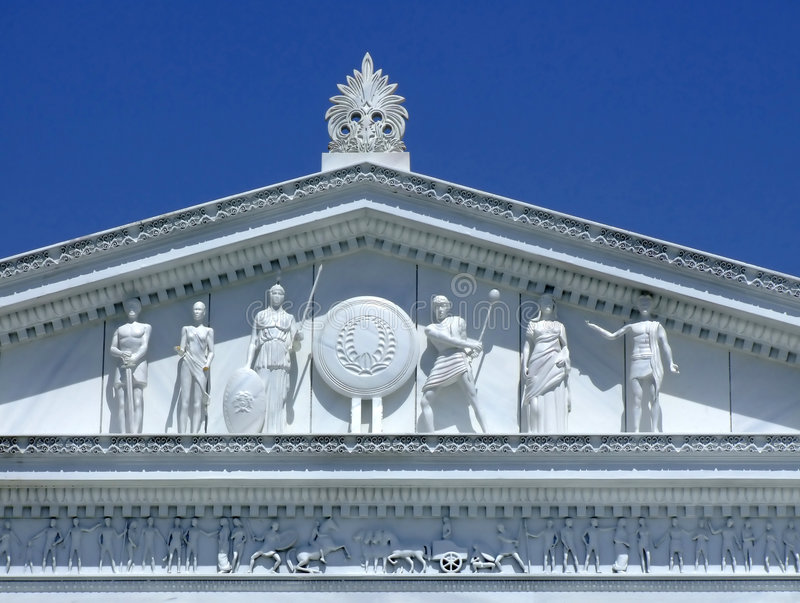 Templo romano antigo fotografia de stock royalty free