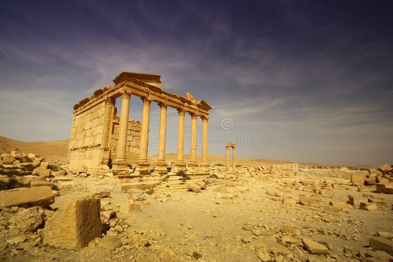 Templo romano de Grecko en Palmyra imagenes de archivo