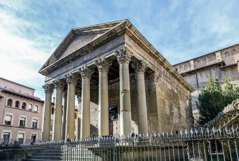 Templo romano de Vic, Espanha foto de stock royalty free
