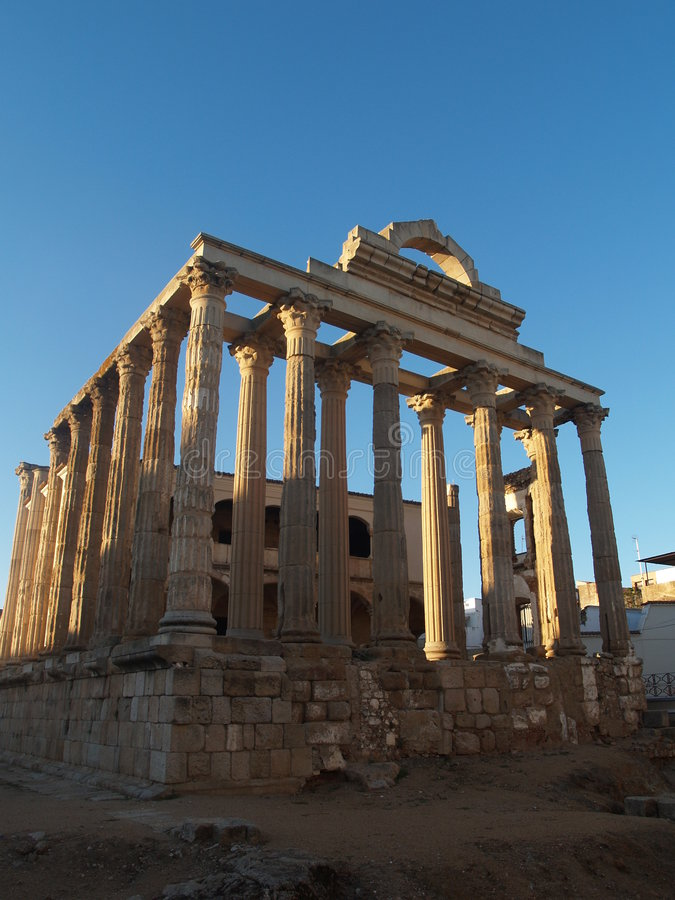 Templo romano Diane fotografia de stock