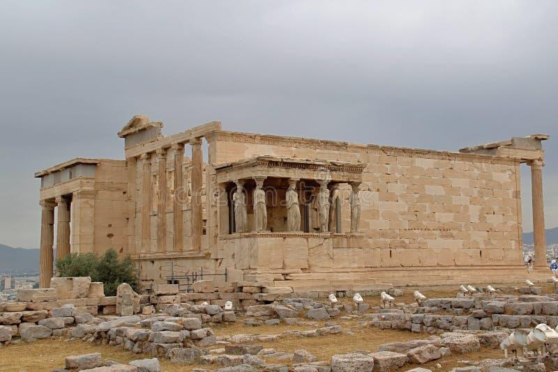 Templo rural da acrópole de Atenas do grego fotos de stock