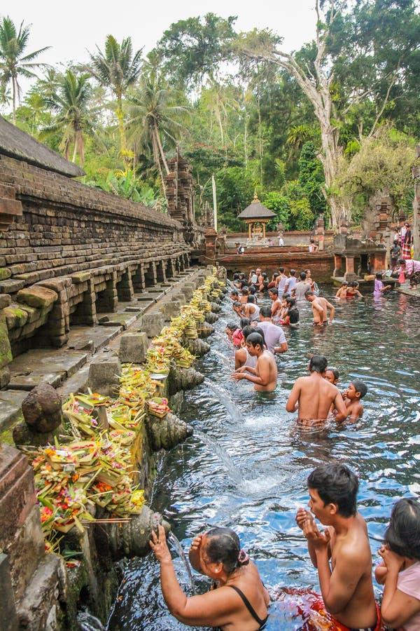 Templo sagrado da água em Bali imagem de stock royalty free