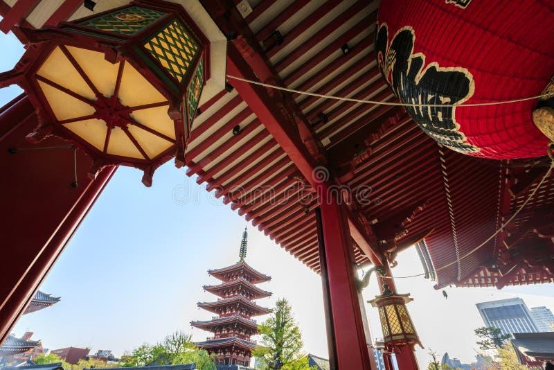 Templo Senso-ji no Tóquio imagem de stock