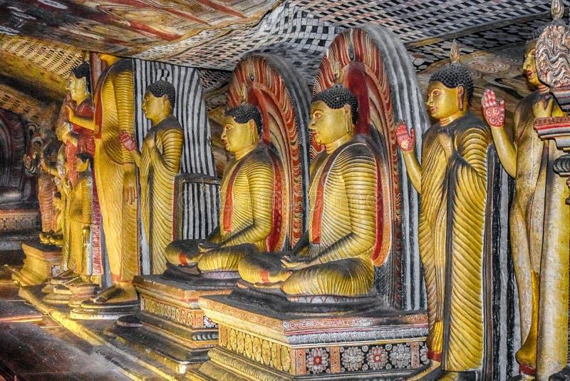 Templo Sri Lanka da caverna de Dambulla fotografia de stock