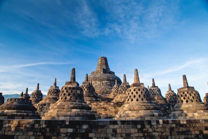 Templo superior de Borobudur, Yogyakarta, Java imagens de stock royalty free