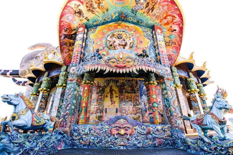Templo tailandés del tiro llano en Tailandia imágenes de archivo libres de regalías