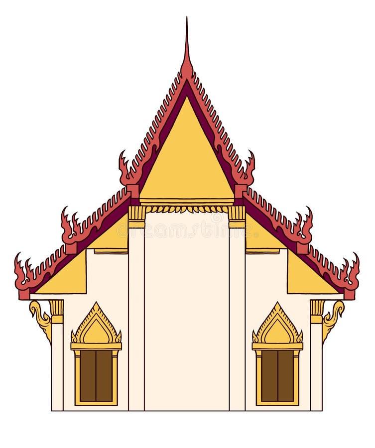 Templo tailandês ilustração do vetor