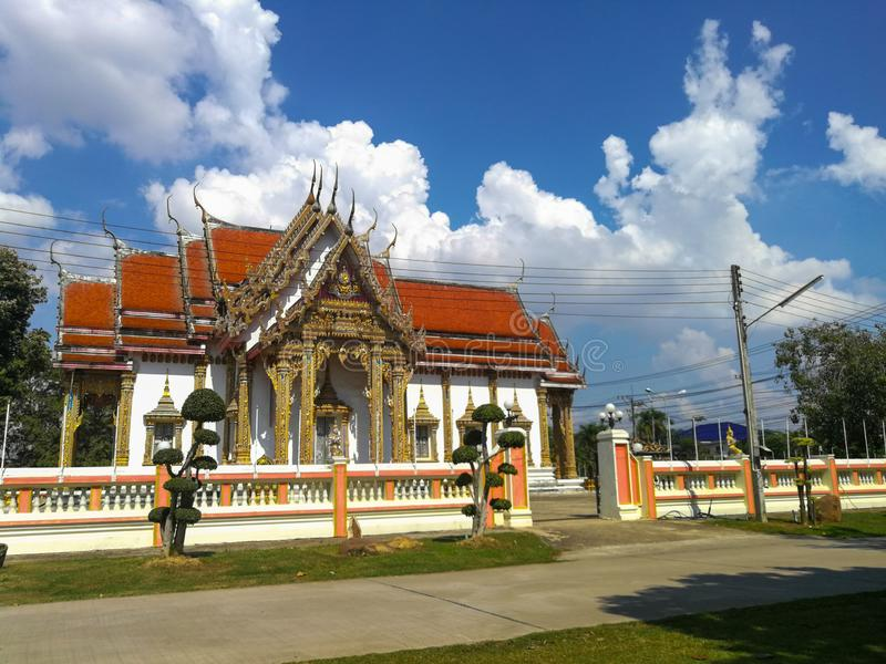 Templo tailandês, o templo famoso Wat Chulamanee de Phitsanulok, Tailândia imagem de stock royalty free