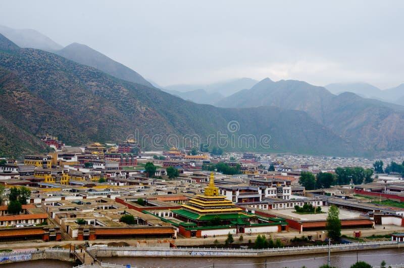 Templo tibetano imágenes de archivo libres de regalías
