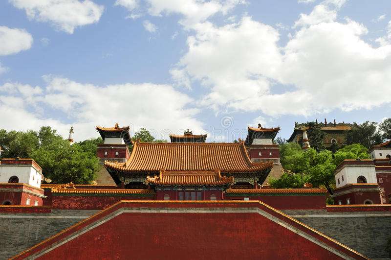 Templo tibetano fotografia de stock