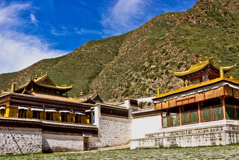 Templo tibetano, Labrang Lamasery fotografía de archivo libre de regalías