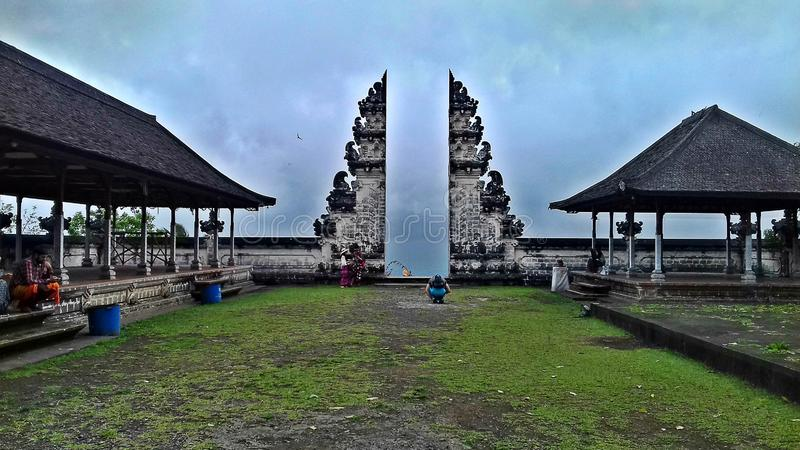 Templo tradicional em Bali, Indonésia fotos de stock