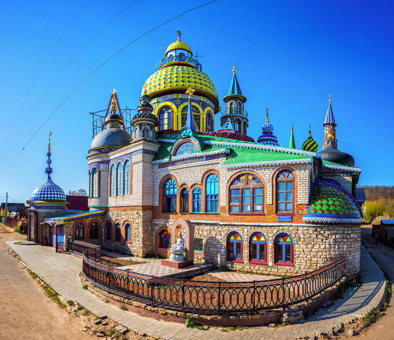 Templo universal de todas las religiones en Kazán imágenes de archivo libres de regalías