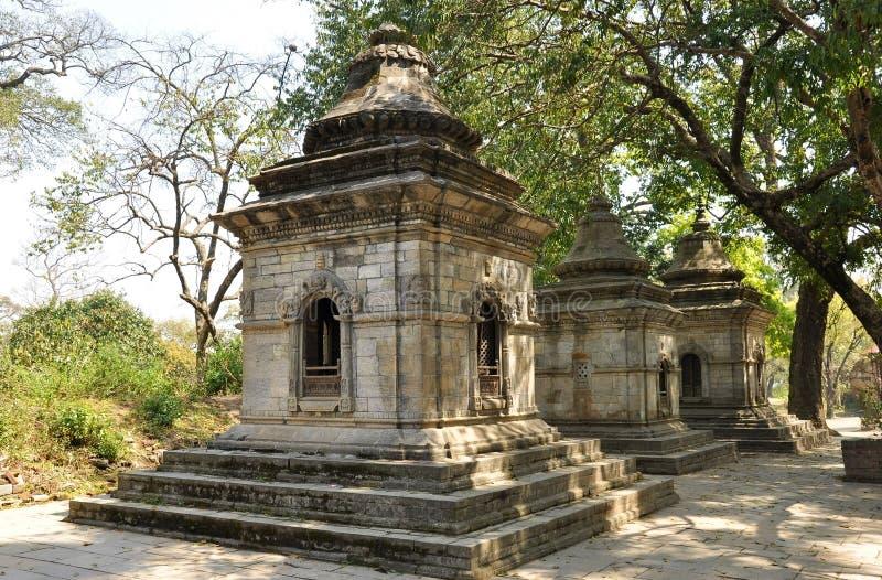 Templo de Pashupatinath fotos de archivo