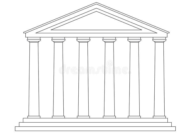 Templo (vector) stock de ilustración