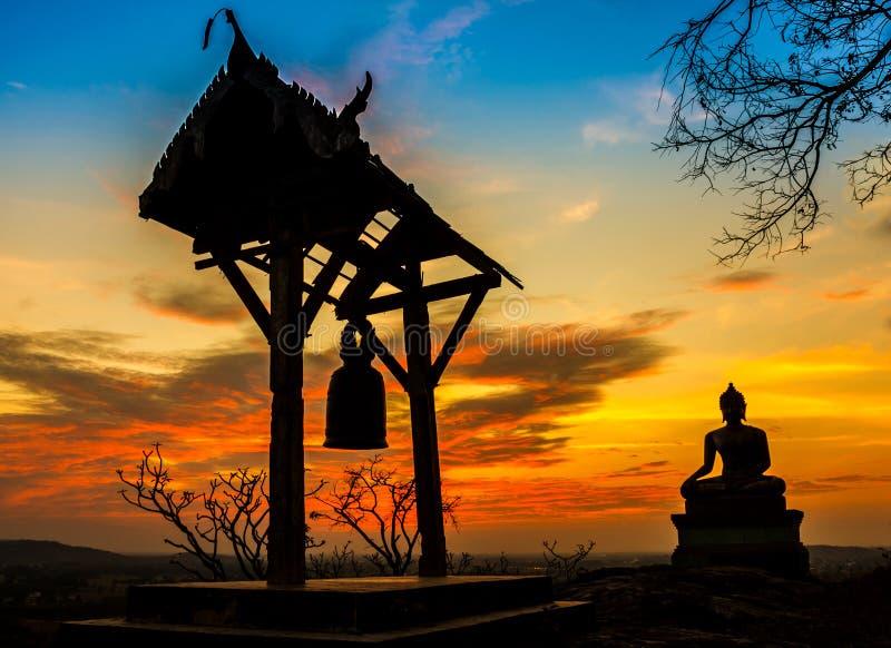 Templo velho do por do sol foto de stock royalty free