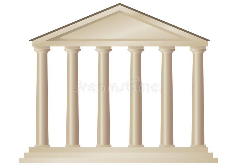Templo (vetor) ilustração royalty free