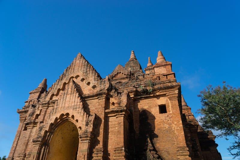 Templo viejo en la ciudad antigua de Bagan, Mandalay, Myanmar foto de archivo