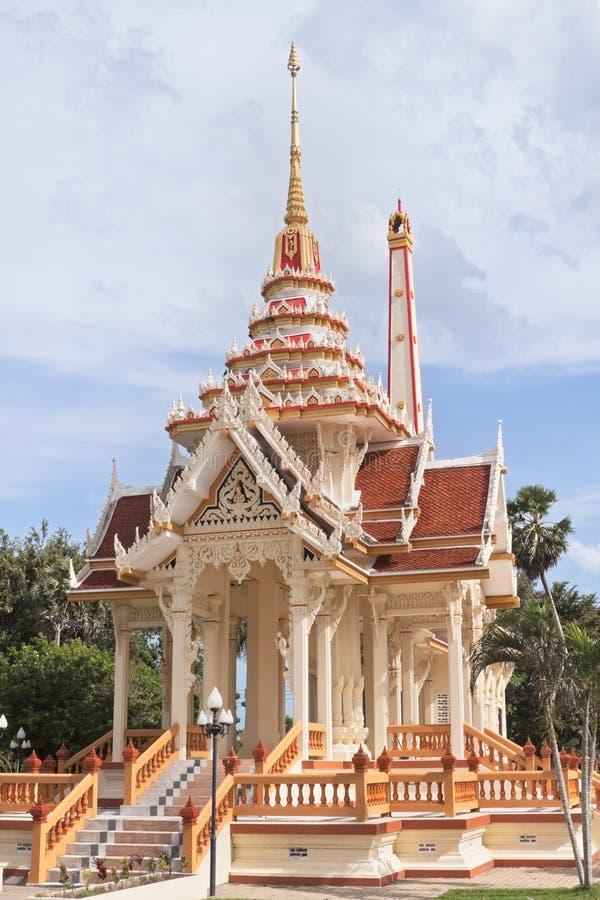 Templo Wat Chalong en Phuket imagenes de archivo