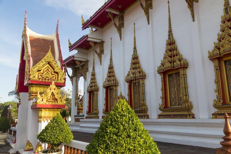 Templo Wat Chalong, Phuket tailândia imagem de stock royalty free