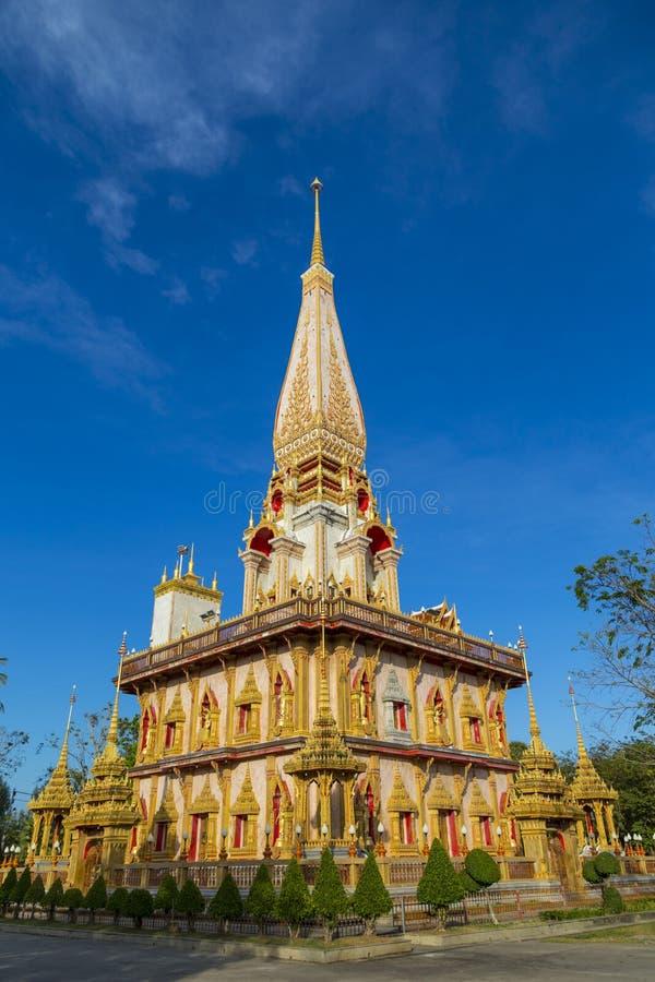 Templo Wat Chalong, Phuket tailândia imagens de stock royalty free