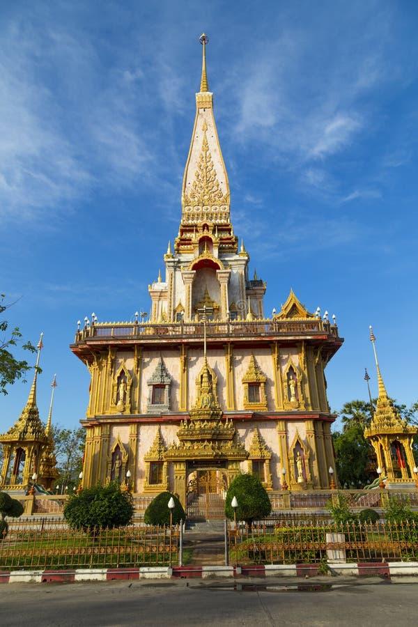 Templo Wat Chalong, Phuket tailândia fotos de stock