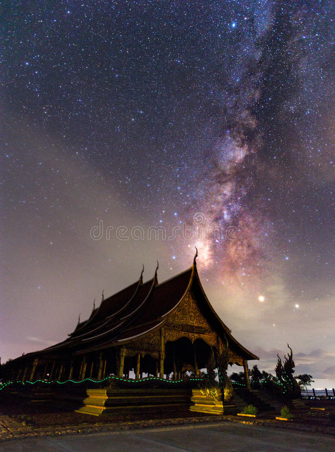 Templo Wat Phu Prao de Sirindhorn Wararam Phu Prao, o Te despercebido imagens de stock royalty free