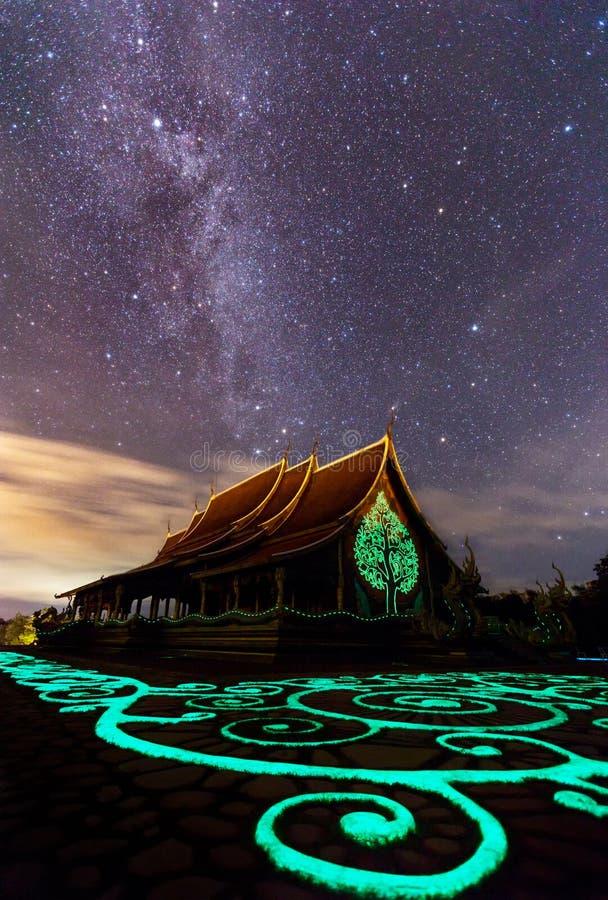 Templo Wat Phu Prao, el Te no visto de Sirindhorn Wararam Phu Prao imagen de archivo libre de regalías