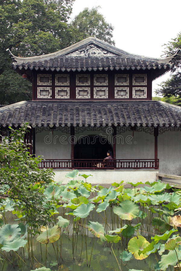 Templo y jardines de Suzhou foto de archivo