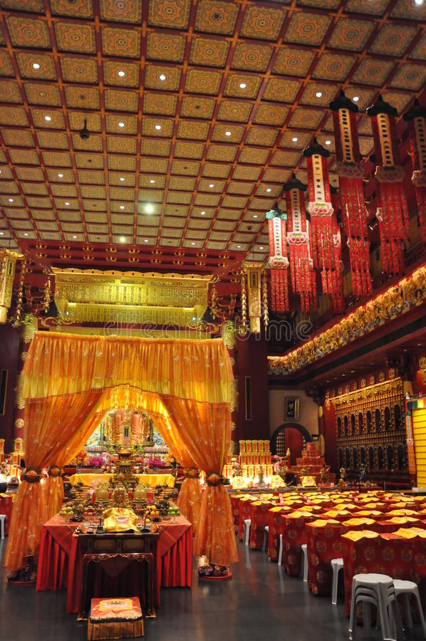 Templo y museo de la reliquia del diente de Buda en Singapur foto de archivo